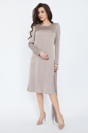 Платье Бьянко темно-бежевое