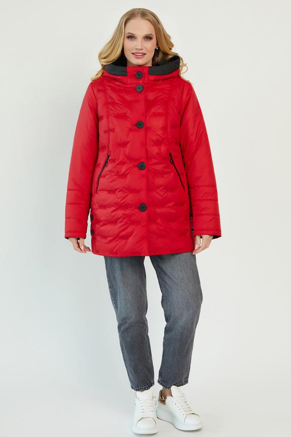 Куртка В 128 красная