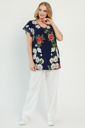 Блуза Бритель темно-синяя 3406