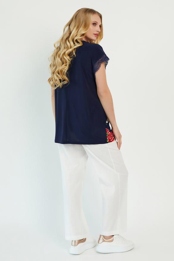Блуза Брітель темно-синя