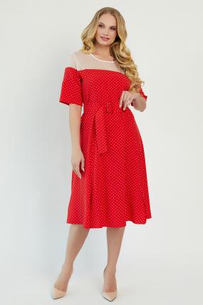 Платье Флорида красное 3408