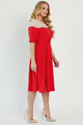 Платье Флорида красное 3410