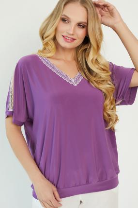 Блуза Гипюр бузкова 3423