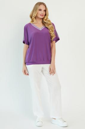 Блуза Гипюр бузкова 3425