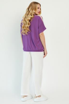 Блуза Гипюр бузкова 3426