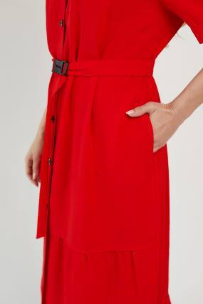 Платье Бизе красное 3430