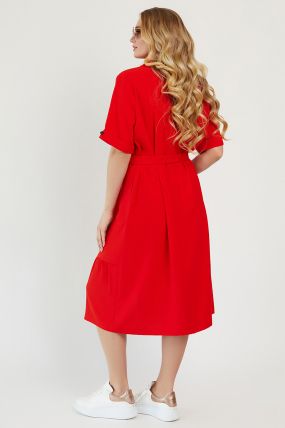 Платье Бизе красное 3433