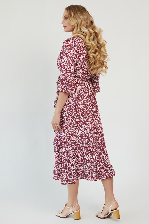 Платье Фанта бордовый