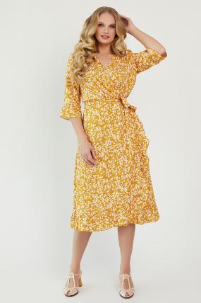 Платье Фанта горчица 3456