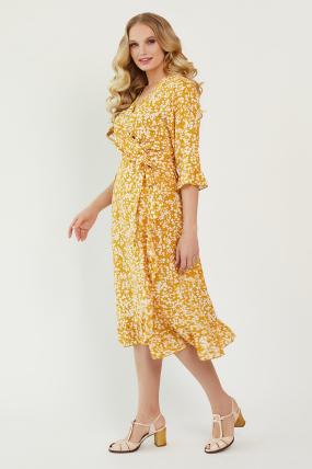 Платье Фанта горчица 3457