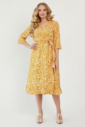 Платье Фанта горчица 3458