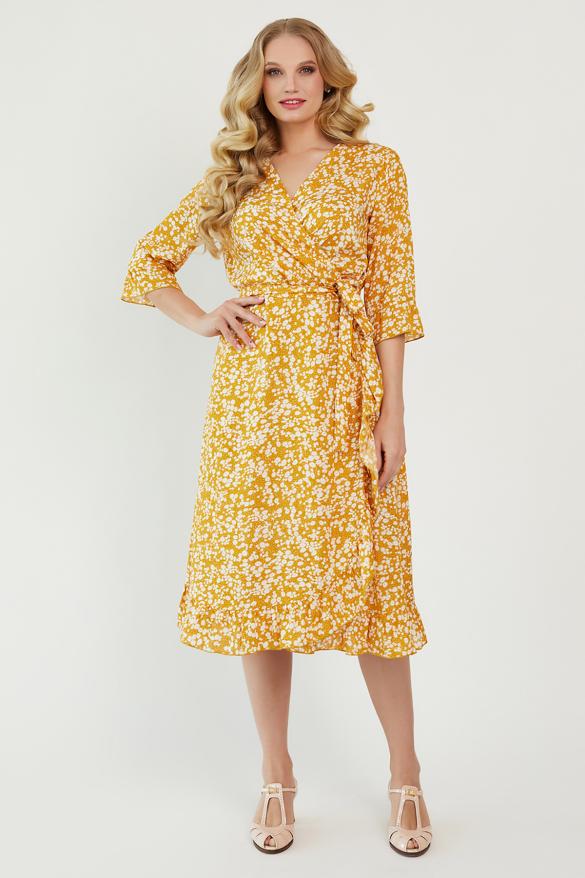 Платье Фанта горчица