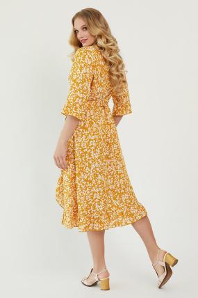 Платье Фанта горчица 3459