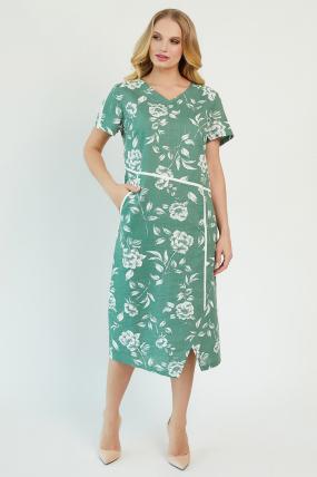 Сукня Алсу оливкова 3472