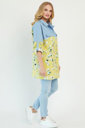 Рубашка Челси желтая 3478