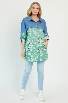 Рубашка Челси оливковая