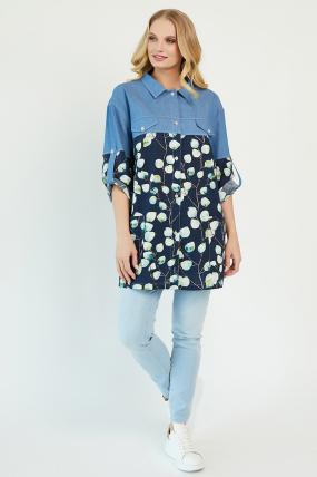 Сорочка Челсі темно-синя 3484