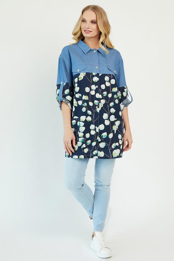 Сорочка Челсі темно-синя