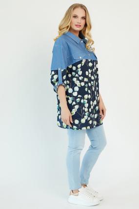 Рубашка Челси темно-синяя 3485