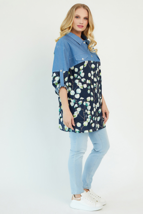 Сорочка Челсі темно-синя 3485