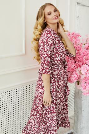 Платье Фанта бордовый 3489