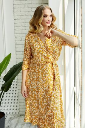 Платье Фанта горчица 3490