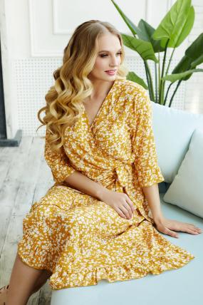 Платье Фанта горчица 3491