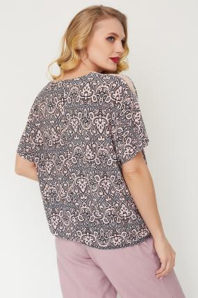 Блуза Гипюр серая 3513