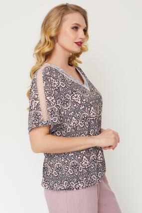 Блуза Гипюр серая 3514
