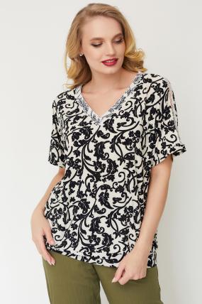 Блуза Гипюр молочная 3515