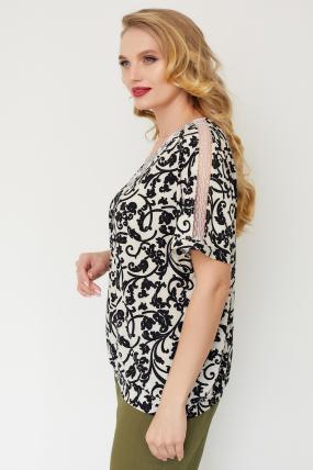 Блуза Гипюр молочная 3516