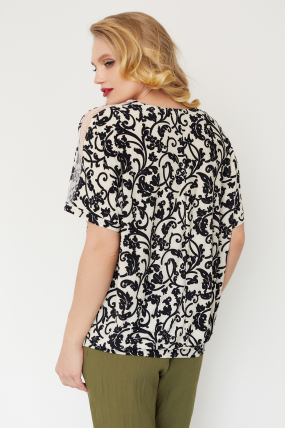 Блуза Гипюр молочная 3517