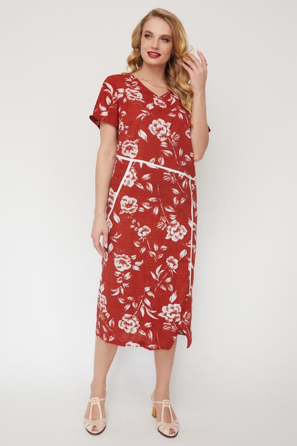 Платье Алсу терракот