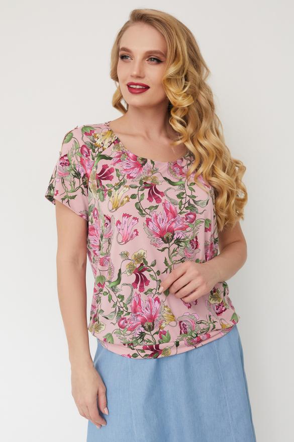 Блуза Жемчуг розовая