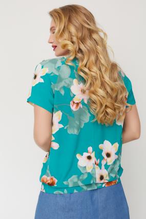 Блуза Жемчуг бірюзова 3552
