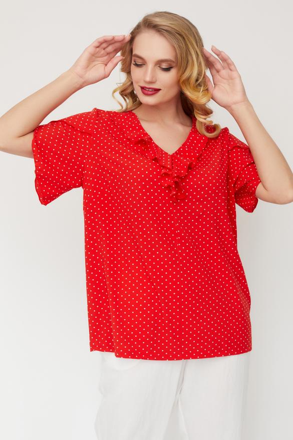 Блуза Бабочка красная