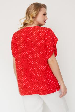 Блуза Бабочка красная 3559