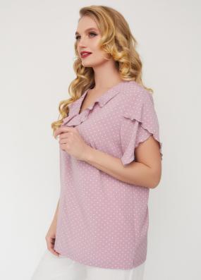 Блуза Бабочка розовая 3563