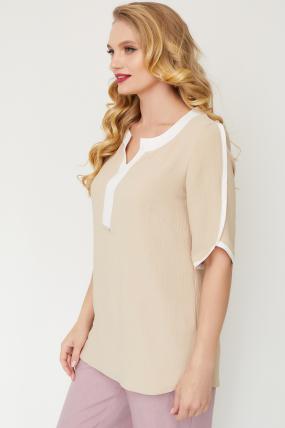 Блуза Рейма бежевая 3576