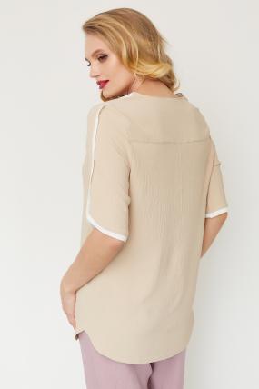 Блуза Рейма бежевая 3577