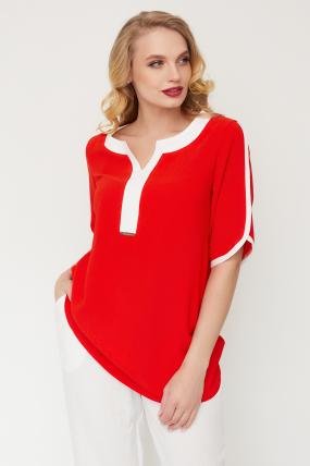 Блуза Рейма красная 3581