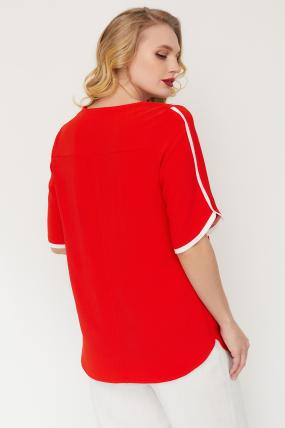 Блуза Рейма красная 3583