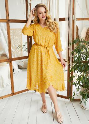 Платье Беатрис горчица 3594