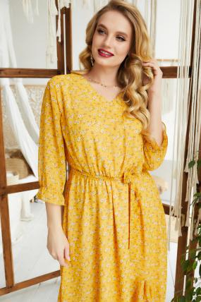 Платье Беатрис горчица 3595