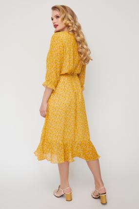 Платье Беатрис горчица 3597
