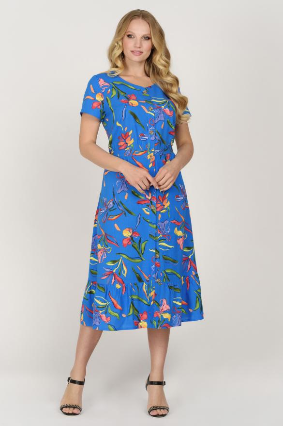 Платье Камыш синее