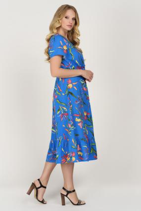 Платье Камыш синее 3625