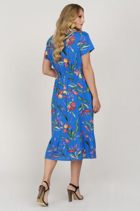Платье Камыш синее 3626