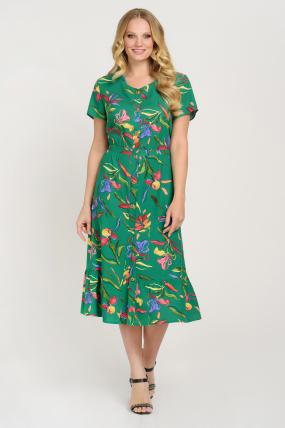 Сукня Камиш зелена 3627