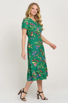 Сукня Камиш зелена 3628